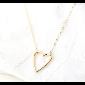 Coming soon! Love heart dainty pendant necklace.